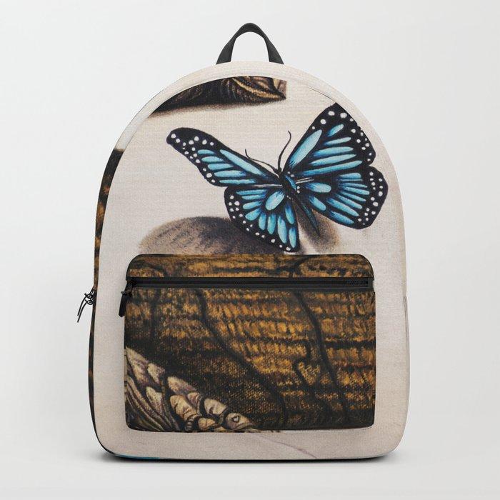 Le papillon de l'amour bleu azur Backpack