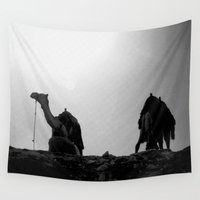 camel Wall Tapestries featuring Camel, Egypt by DLS Design