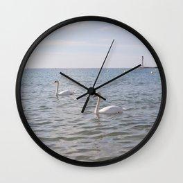 Riviera Swans Wall Clock