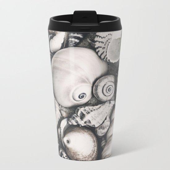 Sea Shell Collection vintage style monochrome Metal Travel Mug