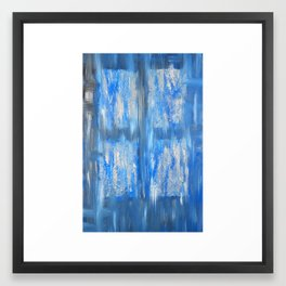 the blue window Framed Art Print