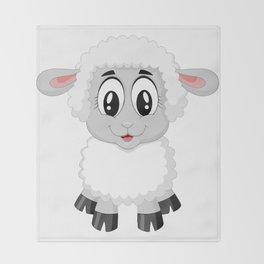Cute Lamb Sheep Throw Blanket