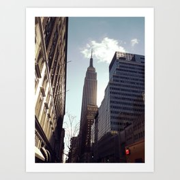 First morning in NY Art Print