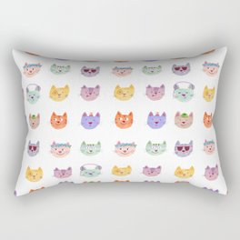 Cat Faces Rectangular Pillow