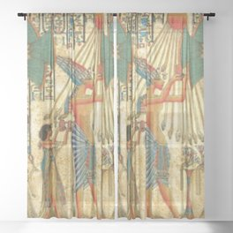 egyptian man sun god ra amun Sheer Curtain