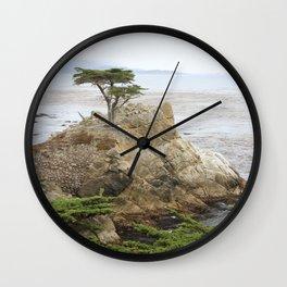 Lone Cypress  Of Monterey Wall Clock