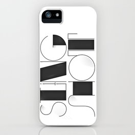 Sling Shot Lettering iPhone Case