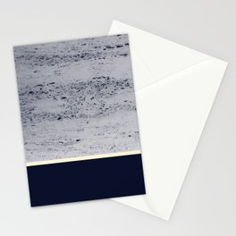 Navy Blue Pale Yellow on Navy Blue Concrete #1 #decor #art #society6 Stationery Cards