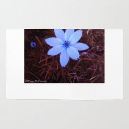 Shambhala Flower White 1a - Scrap Rug