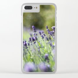 Lavender Fields Clear iPhone Case