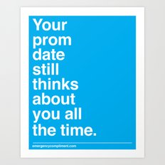 Your Prom Date Art Print