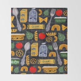 Vintage macaroni pattern Throw Blanket