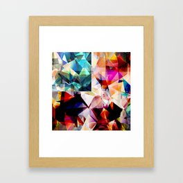 Colorful Geometric Abstract Framed Art Print