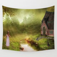 fairy tale Wall Tapestries featuring Fairy Tale by Susann Mielke
