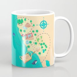 California Treasure Map Coffee Mug