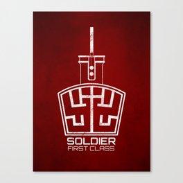 Soldier: First Class Canvas Print