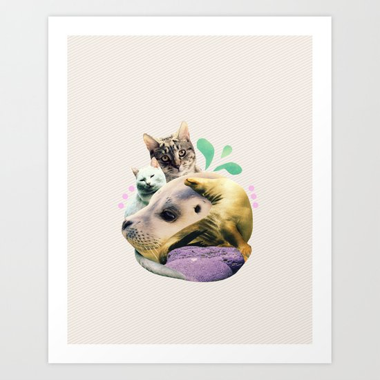 furry on the meowsea Art Print