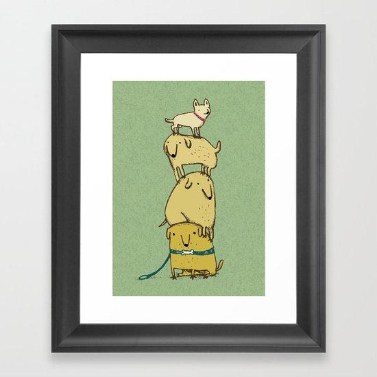 Puppy Totem Framed Art Print