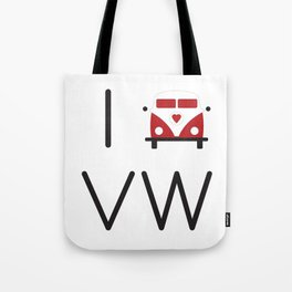 I heart Campervans Tote Bag