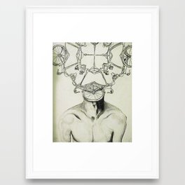 Bike Man Framed Art Print