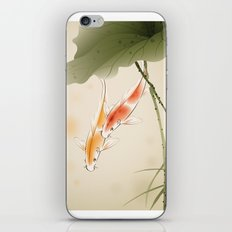 Koi fishes in lotus pond iPhone & iPod Skin