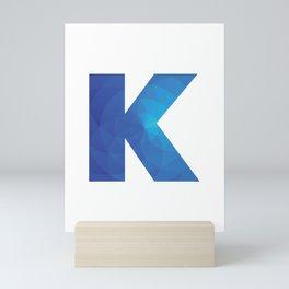 Blue Letter K Mini Art Print