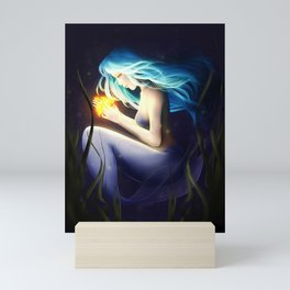 Blue and Yellow Mini Art Print