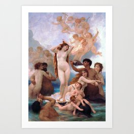 The Birth of Venus by William Adolphe Bouguereau Art Print
