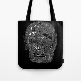 Multi-Faced (White Ink Edition) Tote Bag