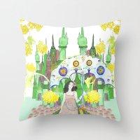 saga Throw Pillows featuring Saga by Elin Emanuelsson