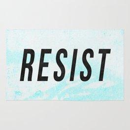 RESIST 1.0 - Black on Teal #resistance Rug