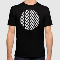 Chevron Tracks Mens Fitted Tee Black X-LARGE