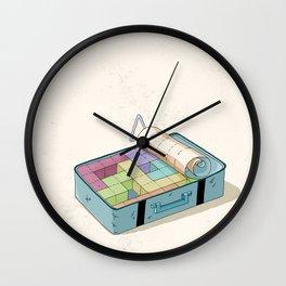 Preparing luggage Wall Clock