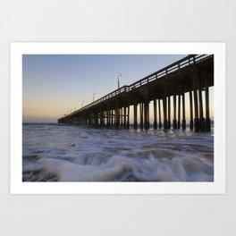 Sea Under The Pier Art Print