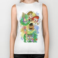 pixar Biker Tanks featuring Disney Pixar Play Parade - Toy Story Unit by Joey Noble