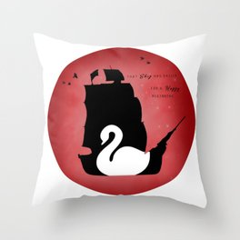 CAPTAIN SWAN (Red) Throw Pillow