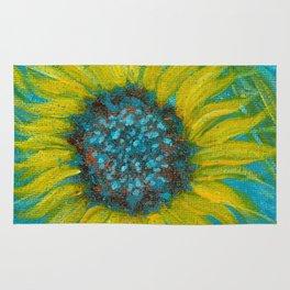 Sunflowers on Turquoise II Rug