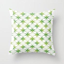 green stylized schematic flower Throw Pillow