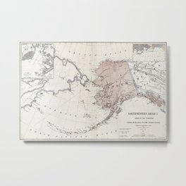 Northwestern America - Alaska - 1867 Metal Print