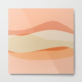 Peachy Waves Metal Print