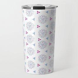 Blue and Pink Converge Travel Mug