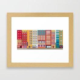 LONDON HIGH STREET Framed Art Print