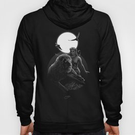 VIII. Strength Tarot Card Illustration Hoody