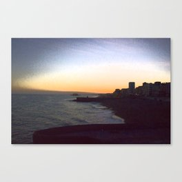 Seafront sunset Canvas Print