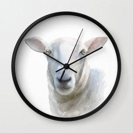 Watercolor Sheep Wall Clock