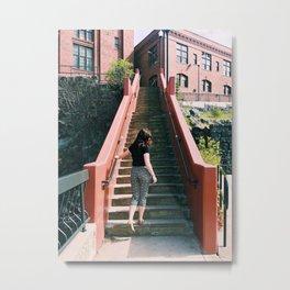 City Stairs Metal Print