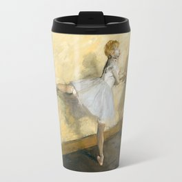 Dancers Practicing at the Barre by Edgar Degas Travel Mug