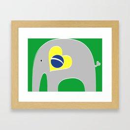 Brazilian Elephant 2 Framed Art Print