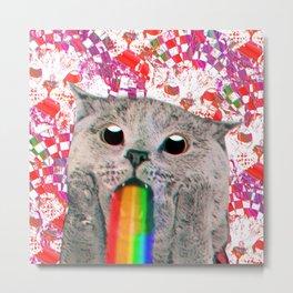 Meme Cat Metal Print