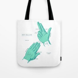 Handy New Zealand Map Tote Bag